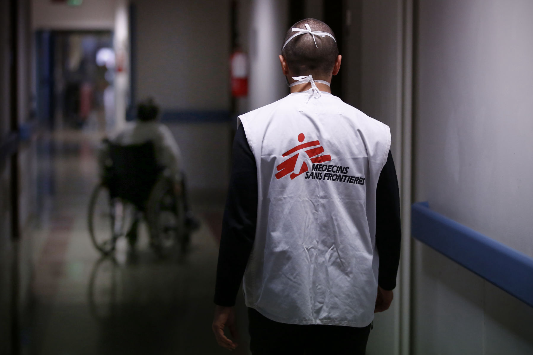 MSF intervention in a nursing home in Marche region, Italy. April 2020. ©MSF/Vincenzo Livieri.